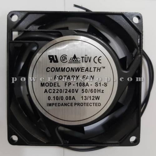 فن فلزی تابلویی سایز 8×8 COMMONWEALTH 220V AC
