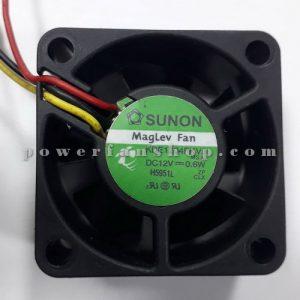 فن پلاستیکی کامپیوتری سایز 1.5×4×4 SUNON 12V DC